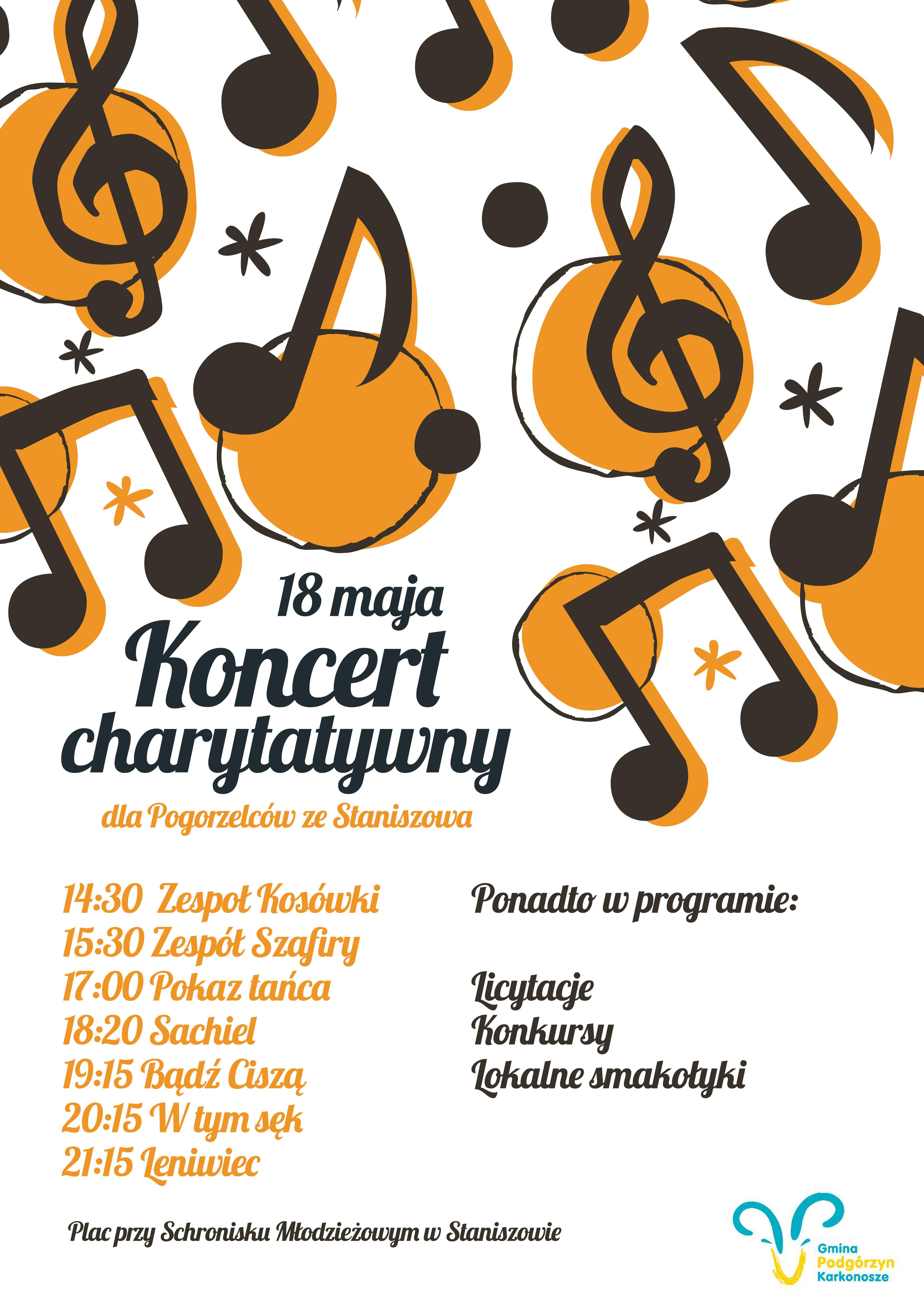 Koncert charytatywny dla pogorzelców ze Staniszowa